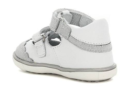 Bartek Girls Leather T-Strap Shoes Closed Toe Sandals 81798//AA2 Pearl White Toddler//Little Kid
