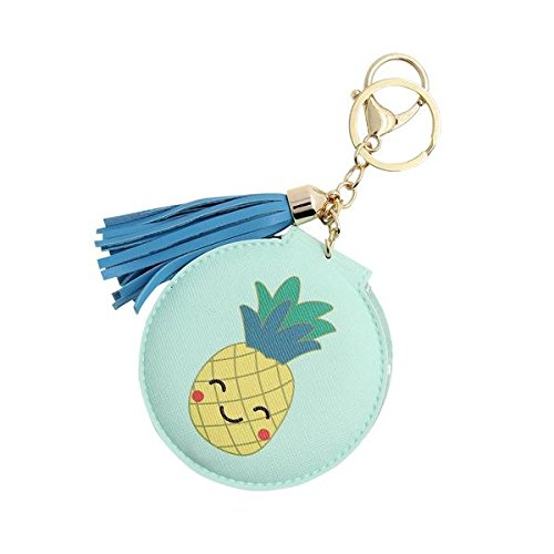 DCI Keychain Compact Mirror: Pineapple, Foldable Mirror, 3