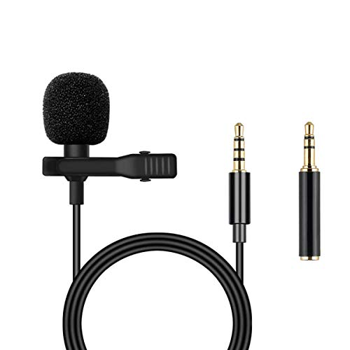 Lavalier Recording Microphone for Phone - Omnidirectional Condenser Mini Microphone for iPhone, Samsung, Android/Windows Smart-Phones,Sound Card, Computer & DSLR