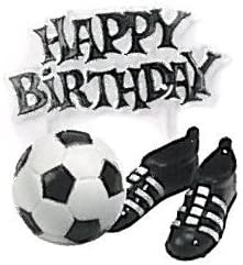 Pelota de Futbol feliz cumpleaños y la torta de botas: Amazon.es ...