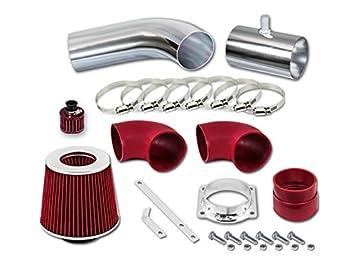 Velocity Concepts Red Short Ram Air Intake Kit + Filter 96-02 Lincoln Town Car 4.6 V8