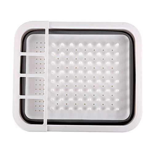 Beaurce Plegable Plegable Plato de plástico Escurridor Plato Rack Tablero Placas Caja de Almacenamiento Hogar Cocina…