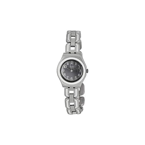 Swatch White Chain YSS254G - Reloj de Mujer de Cuarzo, Correa de Acero Inoxidable Color: Amazon.es: Relojes
