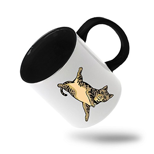 Style In Print Bengal Cat #1 Coffee Tea Colored Inside And Handle Mug White/Black