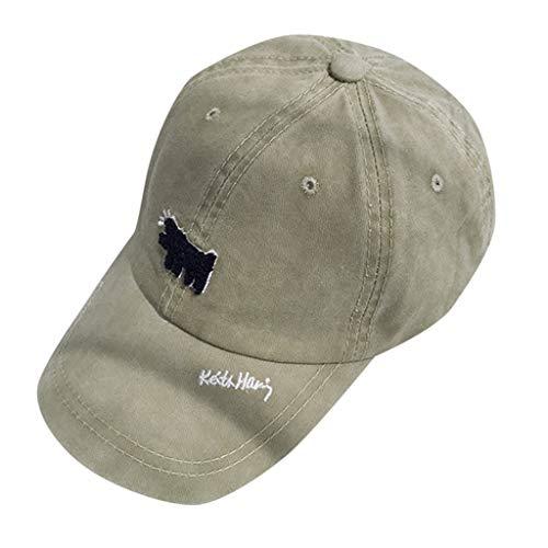 ACEBABY Keth Tiene BQ9023 Lavado Viejo Gorra de béisbol Hembra Gorras Beisbol Deportes Unisex Adjustable al Aire Libre Cap clásico algodón Sombrero ...