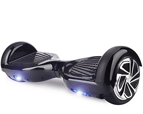 Hoverboard UL 2272 Certified 6.5' Self Balancing Wheel Electric Scooter w/ Bluetooth Speaker and LED Light- Black