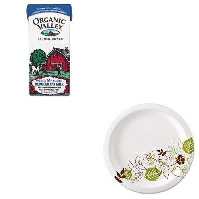 KITDXEUX9WSPKORV20332263 - Value Kit - Organic Valley Milk (ORV20332263) and Dixie Pathways Mediumweight Paper Plates (DXEUX9WSPK)