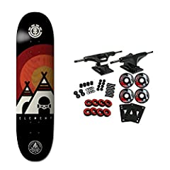 Made from 7-ply, premium maple wood, the Element skate deck delivers durable, lightweight performance. This pro skateboard deck is suitable for every skill level from beginner to pro. Core trucks are light weight and feature heavy duty alumin...