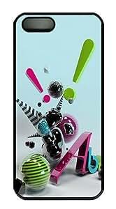 3D Art Polycarbonate Custom iphone 5c S/5 Case Cover - Black