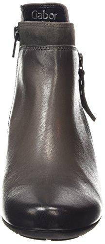 Gabor Bonsoir - Botas de cuero para mujer gris (dark grey leather)