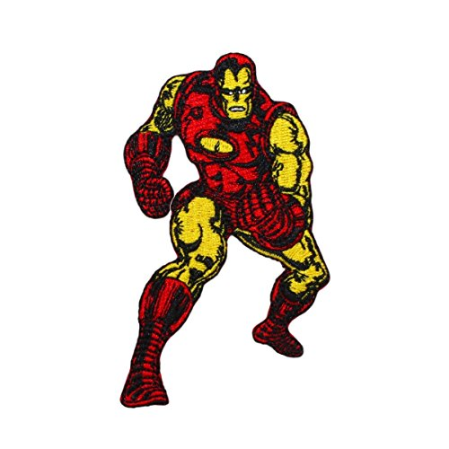 Marvel Comics Avengers Classic Iron Man Power Suit Superhero Iron On Applique Patch
