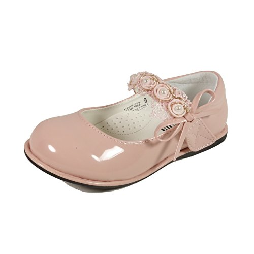 Nova Utopia Toddler Little Girls Mary Jane Style Dress Ballet Flat Shoes NF Girl NFGF022New Pink 9 (Shoes For Girls For Dress)