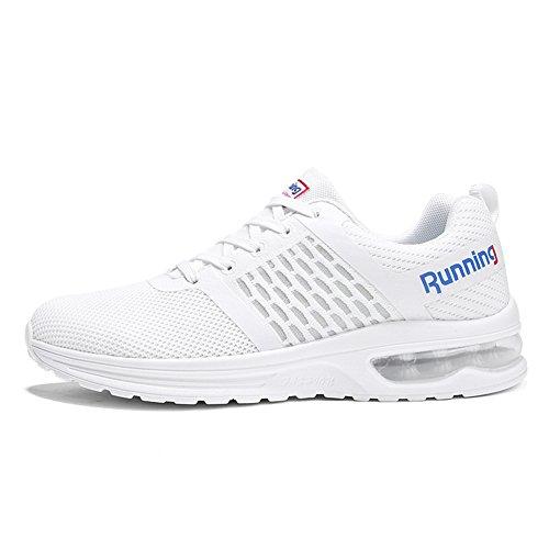 Torisky Heren Dames Luchtkussen Sneakers Outdoor Sport Jogging Schoenen Wit