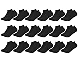 Sockletics Women's 18 Pair VALUE Pack - No Show Socks - Solids, Stripes, and Dots - Sock Size 9-11, Shoe Size 4-10.5 Black