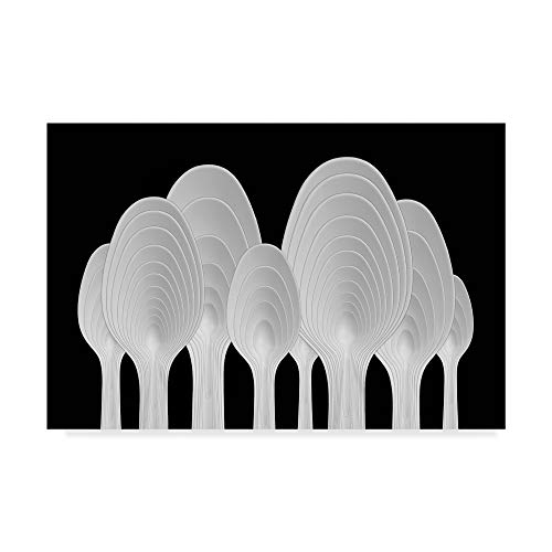 Trademark Fine Art Spoons Abstract Tree Rings by Jacqueline Hammer, 22x32-Inch, 22x32 ()