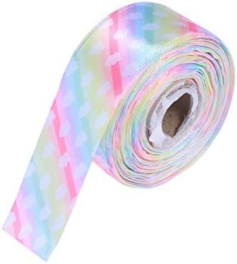 Healifty Grosgrainのリボンロールピンクとブルーのブロンズはパーティーギフト包装用に印刷