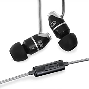 MEElectronics M31P-BK In-Ear Headphones with In-Line Microphone/Single Button Remote for iPhone and Smartphones (New Version with Updated Microphone) Black (Discontinued by Manufacturer)