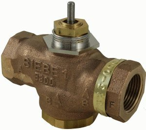 """Schneider Electric VB-7323-0-4-09 Series Vb-7000 Three-Way Globe Valve Body, Npt Threaded Straight Pipe End Connection, Diverting, Brass Plug, 1-1/4"""" Port Size from Schneider Electric Buildings"""