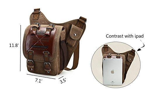 4b14f7ef1b4 Chikencall Mens Boys Vintage Canvas Bags Retro Casual Shoulder Bag ...