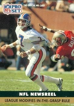John Elway Football Card (Denver Broncos) 1991 Pro Set #345