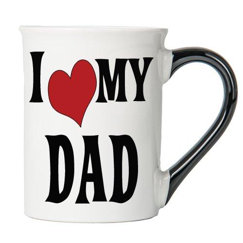 - I Love My Dad Coffee Mug, Ceramic Dad Coffee Cup, Dad Gifts By Tumbleweed