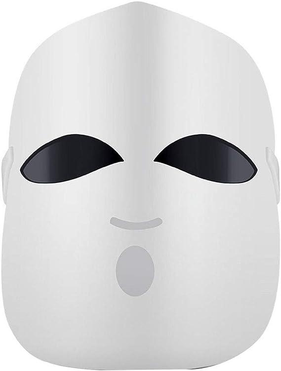 Mallb Máscara facial de 3 colores LED terapia facial belleza cuidado de la piel máscara del hogar fotón dispositivo de belleza: Amazon.es: Belleza