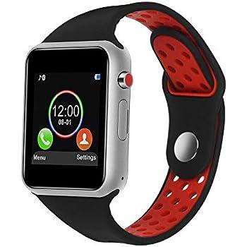 Smart Watch,SUNETLINK Touch Screen Bluetooth Smart Watch,Sport Smart Fitness Tracker Wrist Watch with Camera,Sweatproof Smart Watch with SIM TF Card Slot ...