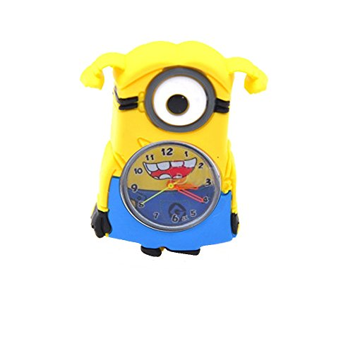 Kids Watch Despicable Me, Minion, Slap Watch, Girls, Boys Educational -Time Teacher (Minion Girl)