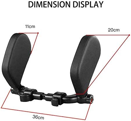 Metyere Car Seat Headrest Neck Pillow Side Head Support Retractable Sleeping Support Auto Head Rest Cushion Relax Support Headrest Comfortable Soft Pillows for Travel Car Seat /& Home