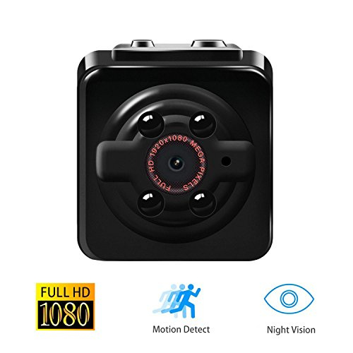 Mini Spy Hidden Camera, Coruva Ultra-Small Portable Design 1080P Full HD Surveillance Camera Night Vision 12 Megapixel Motion Detection for Home Security Support TF Card up to 32GB