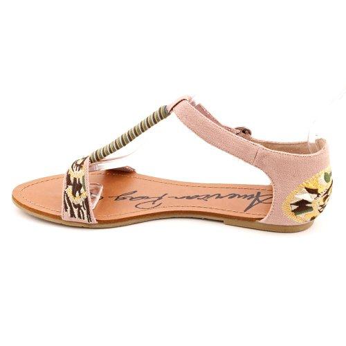 Zapatillas De Lona American Gladiador Alilly Para Mujer, Tamaño 10, Rosa, Con Punta Abierta, Textil, Gladiador