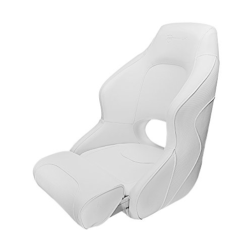 Seamander S1043 Series Premium Bucket Seat,Sport Flip Up Seat, Captain Seat, (White/White) (Furniture Premium Pontoon)