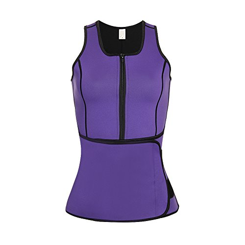 b29cc0a205 KINJOHI Women Waist Trimmer with Adjustable Waist Trainer Belt Purple L -  Buy Online in KSA. Apparel products in Saudi Arabia. See Prices
