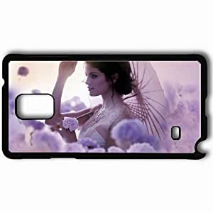 taoyix diy Personalized Samsung Note 4 Cell phone Case/Cover Skin A year without rain selena gomez singer flower Music Black