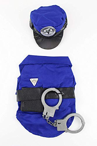 Midlee Police Man Dog Costume (Large) -