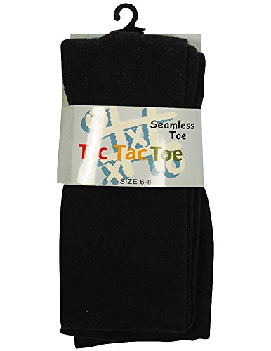 Tic Tac Toe - Big Girls Cotton Tight, Navy (Tic Tac Toe Cotton Tights)