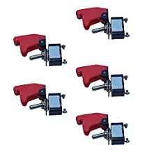 Etopars™ 5 X 12V 20A Red Cover Rocker Toggle Switch SPST ON/OFF Car Vehicle 2Pin