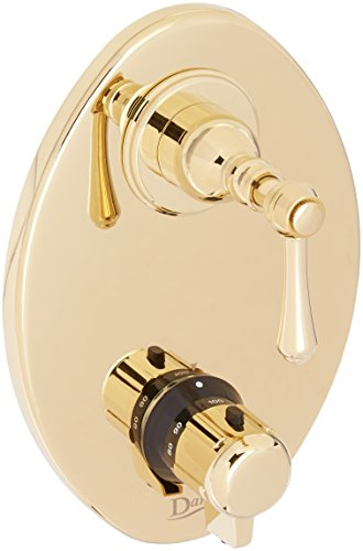 Danze D560157PBVT Opulence Two Handle 1/2-Inch Thermostatic Shower Valve Trim Kit, Valve Not Included, Polished Brass PBV