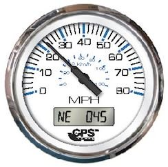 Faria Chesapeake White SS 4 Speedometer 33829