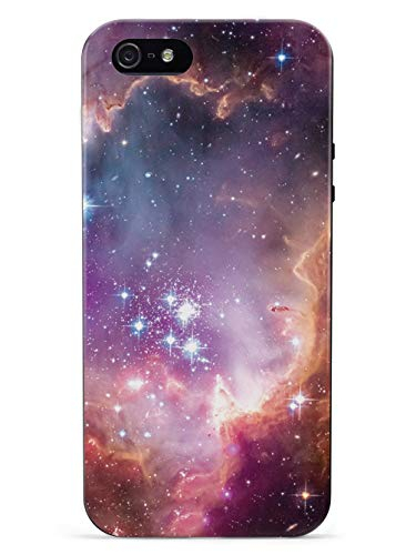 Inspired Cases - 3D Textured iPhone 5/5s/SE Case - Rubber Bumper Cover - Protective Phone Case for Apple iPhone 5/5s/SE - Hubble Scope Colorful Constellation Stars Outer Space