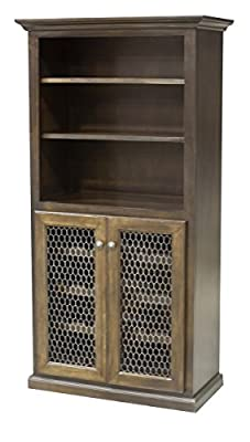Eagle Furniture 18101NGPR 24 Bottle Wine Cabinet & Storage44; Persimmon Red