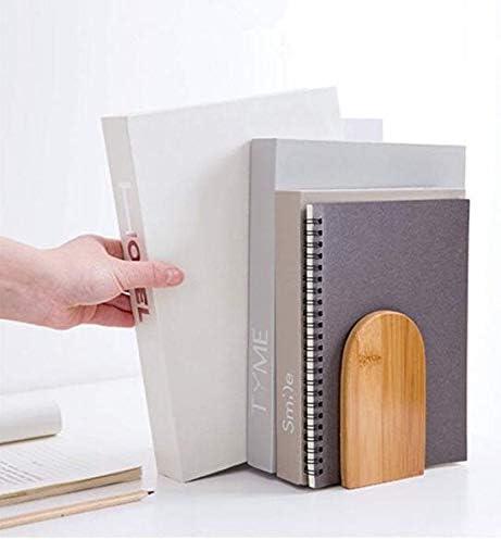 biblioteca 18.5x9.5x13 cm con base in metallo studio idea regalo 7.2x3.7x5.1 inch Fermalibri in bamb/ù scuola antiscivolo per casa organizer da scrivania bamboo bookends ufficio