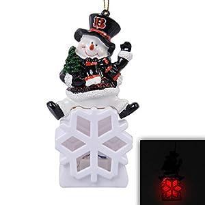 Cincinnati Bengals Snowman LED Ornament