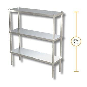 Estantes 100x50x150 estanterías 3 estantes de acero ...