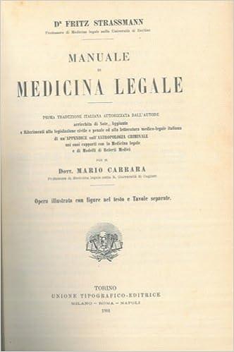 manuale di medicina legale