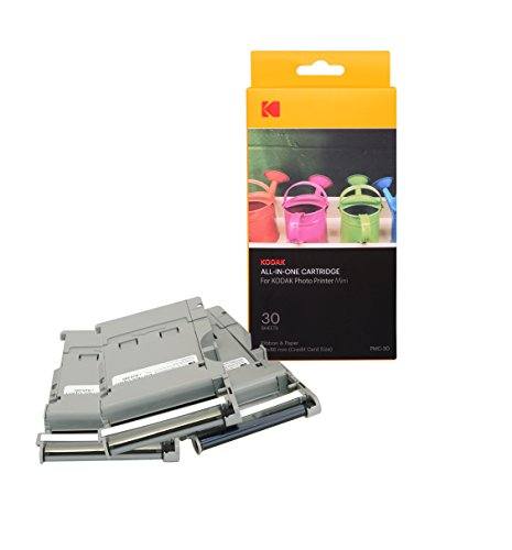 Kodak Mini Photo Printer Cartridge PMC - All-in-One Paper & Color Ink Cartridge Refill - 30 Pack (Compatible ONLY with Original MINI Printer, NOT Mini2, Mini Shot)