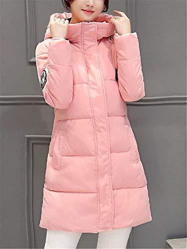 élégant capuchon manteau en d'hiver loisirs duvet fille long de femme air air de en matelassé rose en à mode plein de d'hiver produit Manteaux plein plus manteau EqX06q