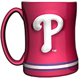 MLB Philadelphia Phillies 14-Ounce Sculpted Relief Mug