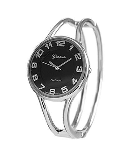 Geneva Platinum Polished Bangle Women s Watch