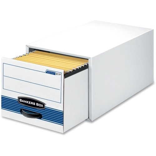 Bankers Box Stor/Drawer Steel Plus - Letter - TAA Compliant - Internal Dimensions: 12.50'' Width x 23.25'' Depth x 10.38'' Height - Stackable - Heavy Duty - External Dimensions: 14'' Width x 25.5'' Depth x 11.5'' Height - Steel, Plastic - White, Blue - File - 6 by Bankers Box